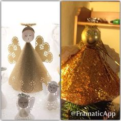 DIY Christmas angel may need some help of her own. #pinterestfail