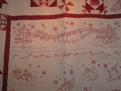Another view of Christmas quilt - Walking in a Winter Wonderland