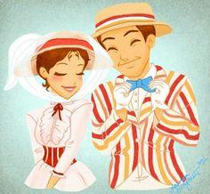 Mary Poppins with Burt