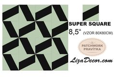 #patchwork #square #čtverce #patchworkovévzory #návody #template #supersquare