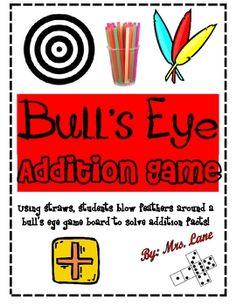 Bull's Eye Addition Game! (For Elementary)