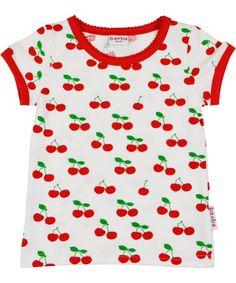 Baba Babywear witte t-shirt met lekkere kersjes. baba-babywear.nl.emilea.be