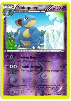 Rare Nidoqueen reverse holographic card, in near mint condition! Comes with a…