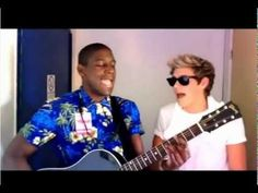 & on a lighter note here's a video of Niall horan rapping