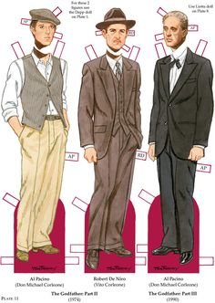 Welcome to Dover Publications Movie Mobsters Paper Dolls Al Pacino (Don Michael… Rosie The Riviter, Paper Doll Costume, Paper People, Dover Publications, Fashion Designer, Vintage Paper Dolls, Movie Costumes, Retro Toys, The Godfather