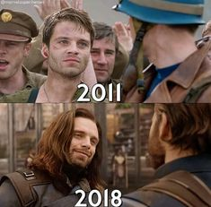It's been over 70 years and Bucky still looks at Steve the same way