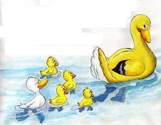 Het lelijke eendje-4 Ugly Duckling, Donald Duck, Disney Characters, Fictional Characters, Wolf, Barn, Handmade, Activities, Drawings