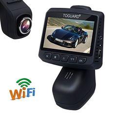 TOGUARD Caméra De Voiture Caméra Embarquée WiFi Full HD 1080P, Objectif À Grand Angle De 170 Degrés, DASHCAM Enregistreur Vidéo Numérique…