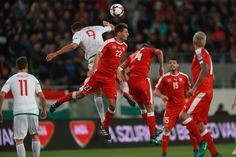 Switzerland's Fabian Schär vies with Hungary's Adam Szalai (L) during a WC 2018 football qualification match Hungary v Switzerland in Budapest on October / AFP / FERENC ISZA October 7, Fifa World Cup, Hungary, Budapest, Switzerland, Ronald Mcdonald, People, Design, Style