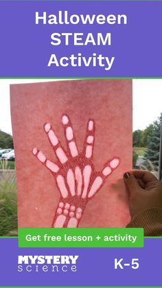 In an activity that combines science with art, students trace their hands and then add see-through bones to their pictur 4th Grade Science, Kindergarten Science, Elementary Science, Science Experiments Kids, Science Classroom, Science Lessons, Teaching Science, Science For Kids, Summer Science