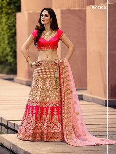 Buy Designer Bridal Lehengas, Wedding Lehengas Online : Be a stunner wearing this pink satin unstitched lehenga choli decorated with zari work and mirror detailing. Paired with a matching dupatta. It can be customized upto size 42. *Call / Whatsapp / Viber : +91-9052526627 *Email : customercare@natashacouture.com *Worldwide Shipping | Free shipping in India | Cash on delivery *