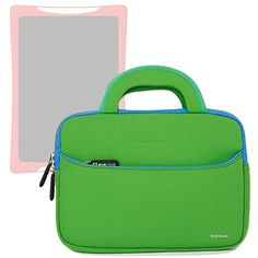 Evecase Slim Handle Carrying Portfolio Neoprene Sleeve Case Bag Compatible with nabi DreamTab HD8 with WiFi 8-inch Touchscreen Tablet PC - Green - The Evecase® Handle Case is a Ultraportable Universal Neoprene Zipper Carrying slim case designed to protect your device.Convenient, comfortable, and easy to carry. Featuring a durable, weather-resistant Neoprene cover, this zipper case helps cushion and protect your talet. This lightweight, ... - http://buytrusts.com/giftsets/tab