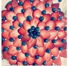 Cake Decoration Idea #decoratingwithfruit #cake #decoration
