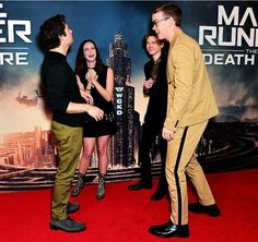 """yikesdudes: """"TMR Cast at the UK Fan Screening of The Scorch Trials Jan 2018 """" Maze Runner Quotes, Maze Runner Funny, Maze Runner Trilogy, Maze Runner Cast, Maze Runner Movie, Maze Runner Series, Will Poulter, Teresa, The Scorch Trials"""