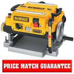 """The DeWalt 13"""" planer is a dual speed planer with variable feed speeds to optimize cuts per inch. This 13 inch planer is a must have for every shop."""
