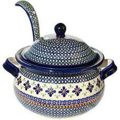 Polish Pottery Soup Tureen...