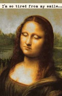 I am so tired from my smile...  by miruschko (Slovakia) #mona lisa