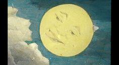 La Luna è un usignolo muto. (Max Ernst) Vetro per Lanterna Magica del racconto di Pierrot bicycliste!