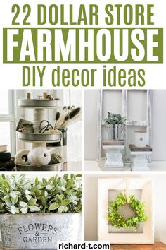 22 Amazing Dollar Store DIY Farmhouse Decor Ideas
