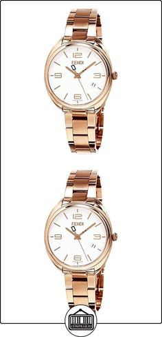 FENDI MOMENTO RELOJ DE MUJER CUARZO SUIZO 34MM CORREA DE ACERO F211534000  ✿ Relojes para mujer - (Lujo) ✿