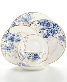 Lenox Garden Grove Collection - Fine China - Dining & Entertaining - Macy's Bridal and Wedding Registry Fine China Dinnerware, Dinnerware Sets, Vintage Dishes, Vintage China, Antique Dishes, Fine China Patterns, Wedding China, Lenox China, China Sets