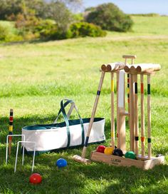 Croquet is the perfect sport for backyard entertaining and encourages fun competition among your guests.