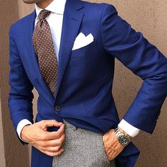 danielre's photo on Instagram Navy Blazer Men, Work Fashion, Mens Fashion, Outfit Man, Engagement Outfits, Blazers For Men, Dress Codes, Mens Suits, Gentleman