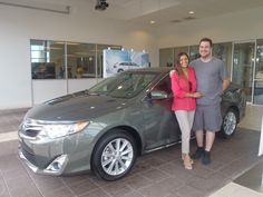 Juana with her beautiful, new 2013 #Camry -- Welcome to the #DavidMausToyota family! #Toyota #WhateverItTakes