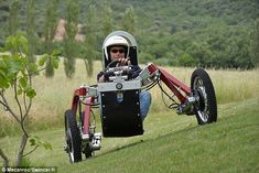Spider-car: The Swincar's extraordinary agility is made possible by each wheel having independent motors and suspension. The Swincar (pictured) can navigate steep slopes and ditches just as easily as a tarmac road, and its wheels are each on separate 'arms,' which seem to have a mind of their own