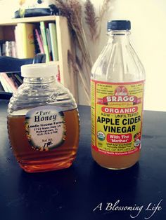 Natural Allergy Relief Drink  1 Tbs local honey  1 Tbs raw organic apple cider vinegar  warm water