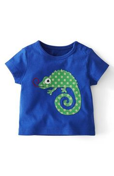Mini Boden Animal Appliqu? T-Shirt (Baby Boys) available at #Nordstrom