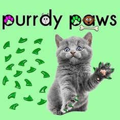 40Pack GREEN Soft Nail Caps For Cat Claws Purrdy Paws Brand Medium -- Want to know more, click on the image.-It is an affiliate link to Amazon. #CatScratching