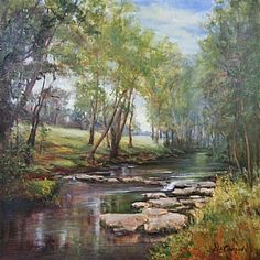 Peaceful Brook by Dot Courson
