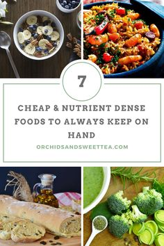 7 Cheap & Nutrient Dense Foods to Always Keep on Hand - Orchids + Sweet Tea Recipes - Nutrition Cheap Clean Eating, Clean Eating Snacks, Healthy Eating, Healthy Food, Eating Habits, Fast Healthy Meals, Easy Healthy Breakfast, Healthy Recipes, Tea Recipes