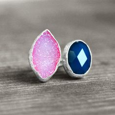 Sterling Silver Ring mit Achat Druse // silver ring with agate geodes by koshikira via DaWanda.com