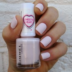Rimmel Cheeky Girl LOVE this color + the application it dries so fast that i'm worried about this getting gloopy in the future... :) LOVEE the color though! it's the palest baby pink and very nearly the exact color of essie fiji if you top coat it :)))
