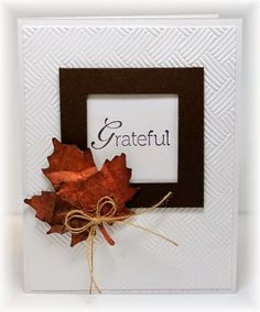 clean & simple grateful card by Becky