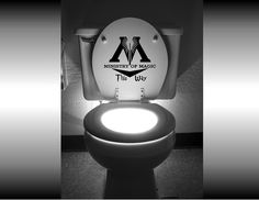 """For the Home ~ Harry Potter """"Ministry of Magic This Way"""" Toilet Decal"""