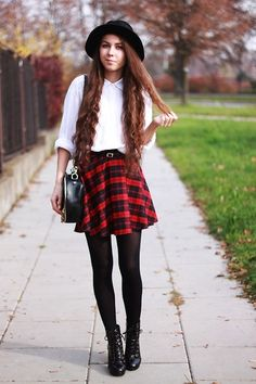 plaid tartan check winter fashion 2014