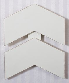 Look at this White Chevron Wall Art on #zulily today!
