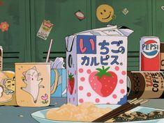 Anime, food, and kawaii Manga Anime, Anime Gifs, Old Anime, Fanarts Anime, Anime Art, Aesthetic Themes, Retro Aesthetic, Aesthetic Anime, Aesthetic Pictures
