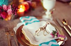 Southern Curls & Pearls: DIY: Gold Animals for table settings