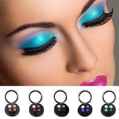 $2.79 - 4 Colors Shimmer Eye Shadow Eyeshadow Palette Makeup Powder Flexibility Lasting #ebay #Fashion