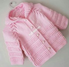 Julia Gorbunova # 769 Media Content and Analytics, Baby Cardigan Knitting Pattern, Knitted Baby Cardigan, Hand Knitted Sweaters, Cardigan Pattern, Baby Sweaters, Baby Knitting Patterns, Baby Patterns, Diy Crafts Knitting, Knitting For Kids