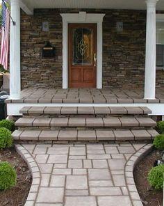 concrete to look like pavers - Stone Concrete Entryways, Unique Concrete, West Milford, NJ