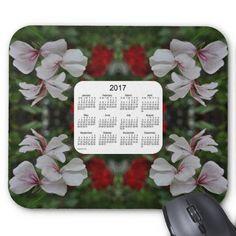 Peppermint Geranium 2017 Calendar Mouse Pad from Calendars by Janz $12.35