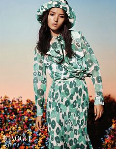 This outfit for women is very classy!!! Luping Wang by Liu Song for Vogue China February 2015
