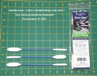 """Swab It: 8.5"""" Double Ended Workhorse Gun Cleaning Swab Gun-tips™ - Tough and reusable,  clean and reuse, lint free and Fiber free."""