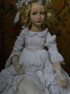 ~~~ Pretty Italian Cloth Lady Doll by Lenci ~~~ from whendreamscometrue on Ruby Lane