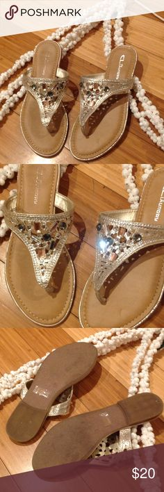 CL by Laundry sandals size 7.5 Cute and fancy sandals size 7.5 jewelry ringtones, great conditions soft and confortable, perfect for summer,The name brand in one of them is a little shade because I remove the tag price they look like new. CL by Laundry Shoes Sandals